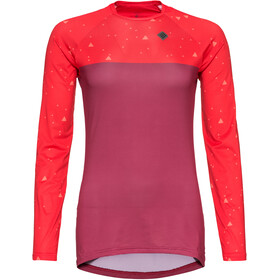 Triple2 Swet Recycled Poly Longsleeve Jersey Dames, beet red